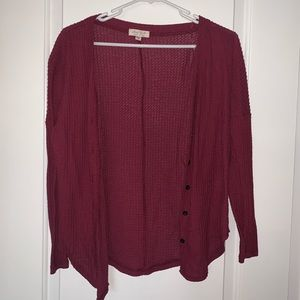 ❤️3 for $20 Maroon Knit Button Up Cardigan